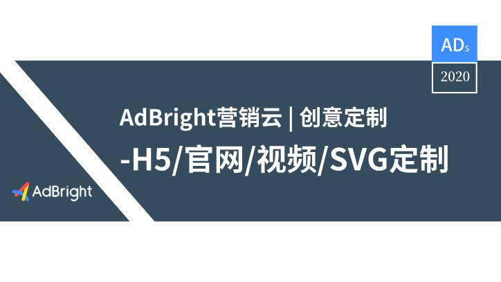 本文为AdBright 营销云中的创意定制工具及服务体系介绍