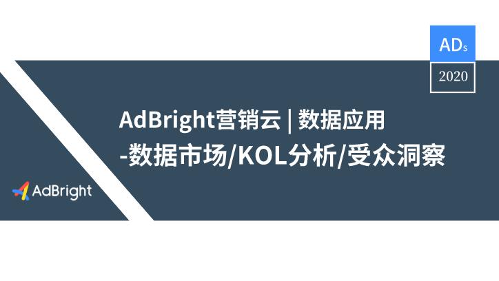 AdBright 营销云 | 数据应用工具及服务盘点
