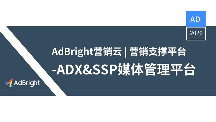 AdBright 营销云   营销支撑平台-ADX&SSP