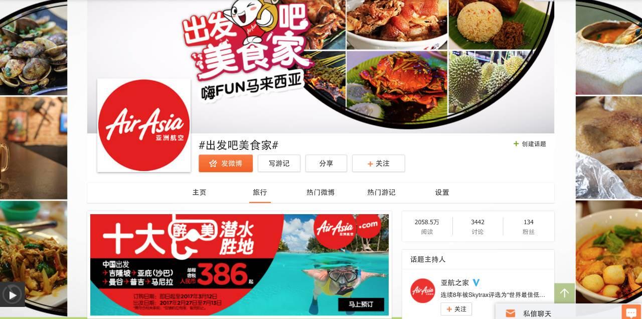 品牌营销 | 境外游品牌推广微博话题